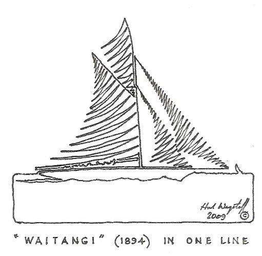 "One of Hal's famous ""one line"" drawings"
